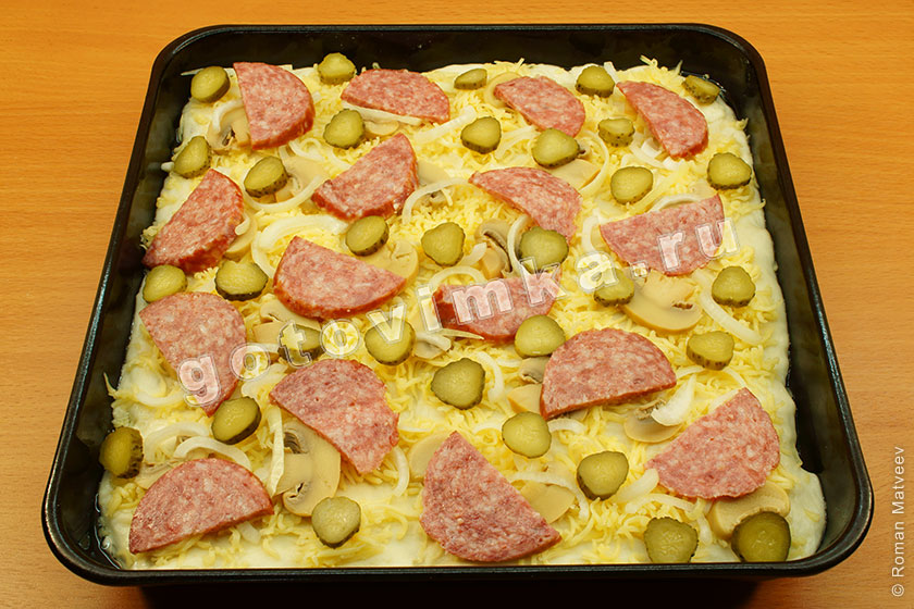 Рецепт куриной пиццы в домашних условиях в духовке