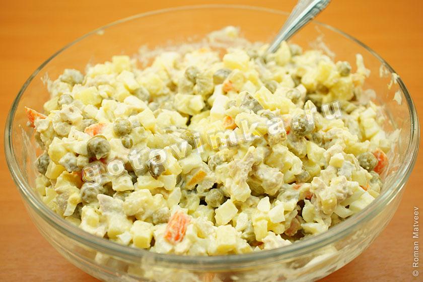 оливье фото рецепт салат